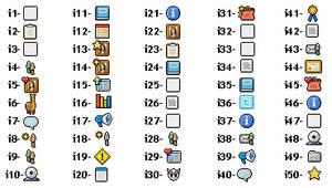 1-50 Custom Box Icon Legend
