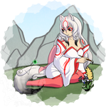 Okami and Issun - Free Commission