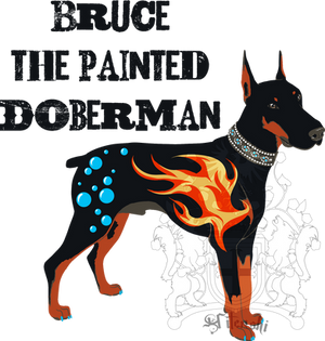 Bruce the Painted Doberman