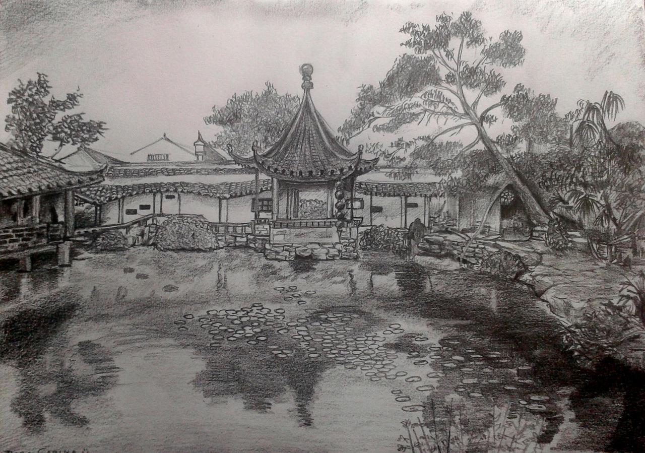 Dibujo jardin japones 2012 by tsundere power on deviantart for Jardin dibujo
