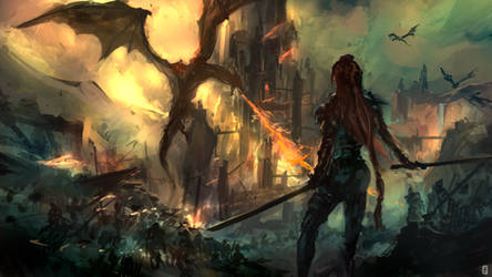 Dragon siege by tsundere-power