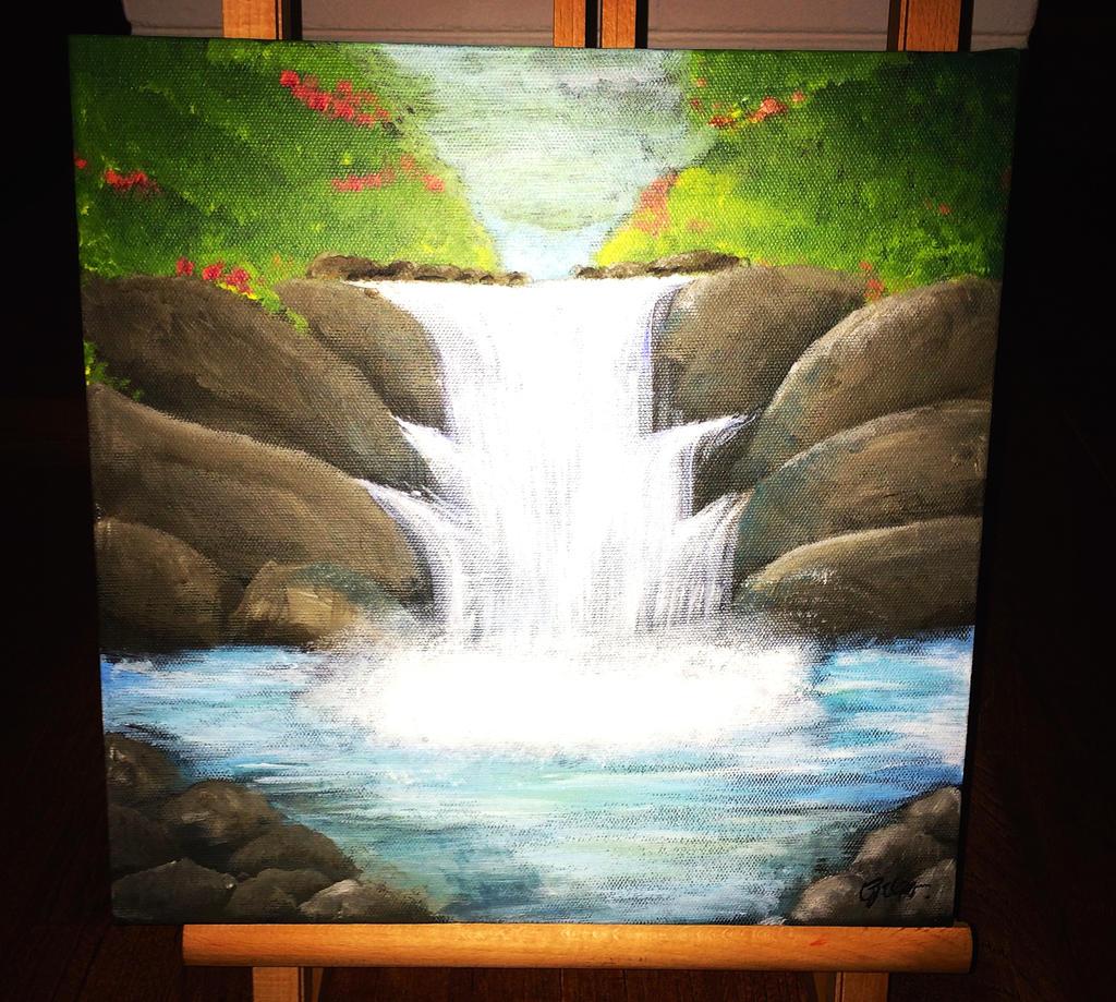 Acrylic Paintings Waterfalla