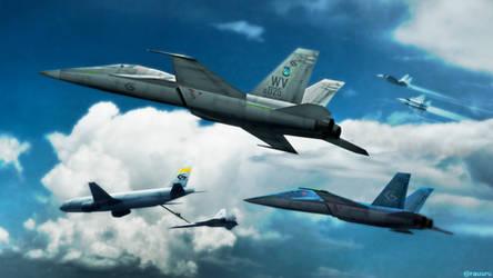 GRDF White Valley's Air Squadron by RauuruKun