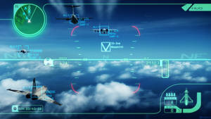 Ace Combat 3 electrosphere HUD re-imagined.