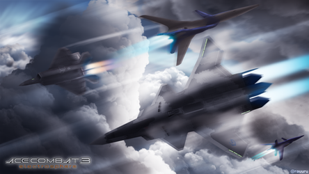 Encounter in the Clouds - ACECOMBAT3 by RauuruKun