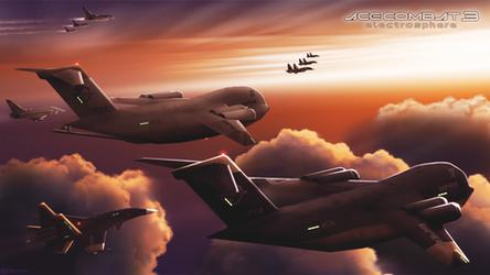 Globemasters chasing sunset (V1.1)