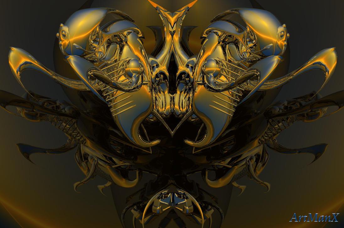Alien twins by artmanax