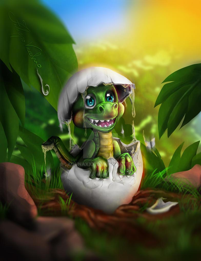 Baby Dino by LagunaXxX