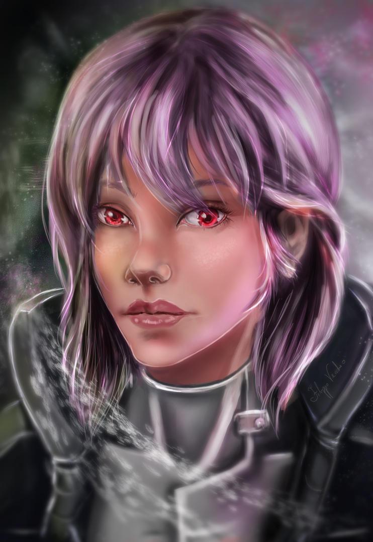 Motoko Kusanagi portrait by LagunaXxX
