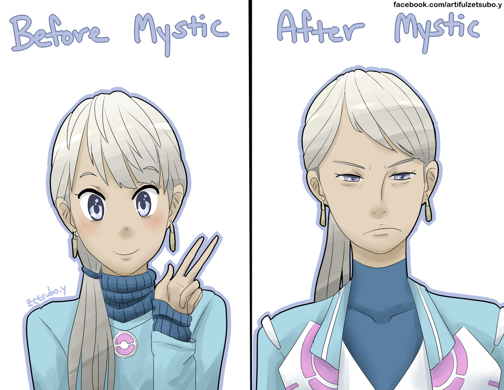 Blacnhe: Before and After Team Mystic by zetsubo-y