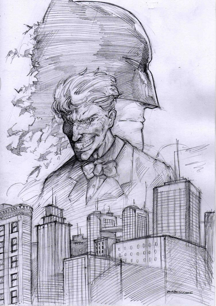 Batman sketch by kourmpamp