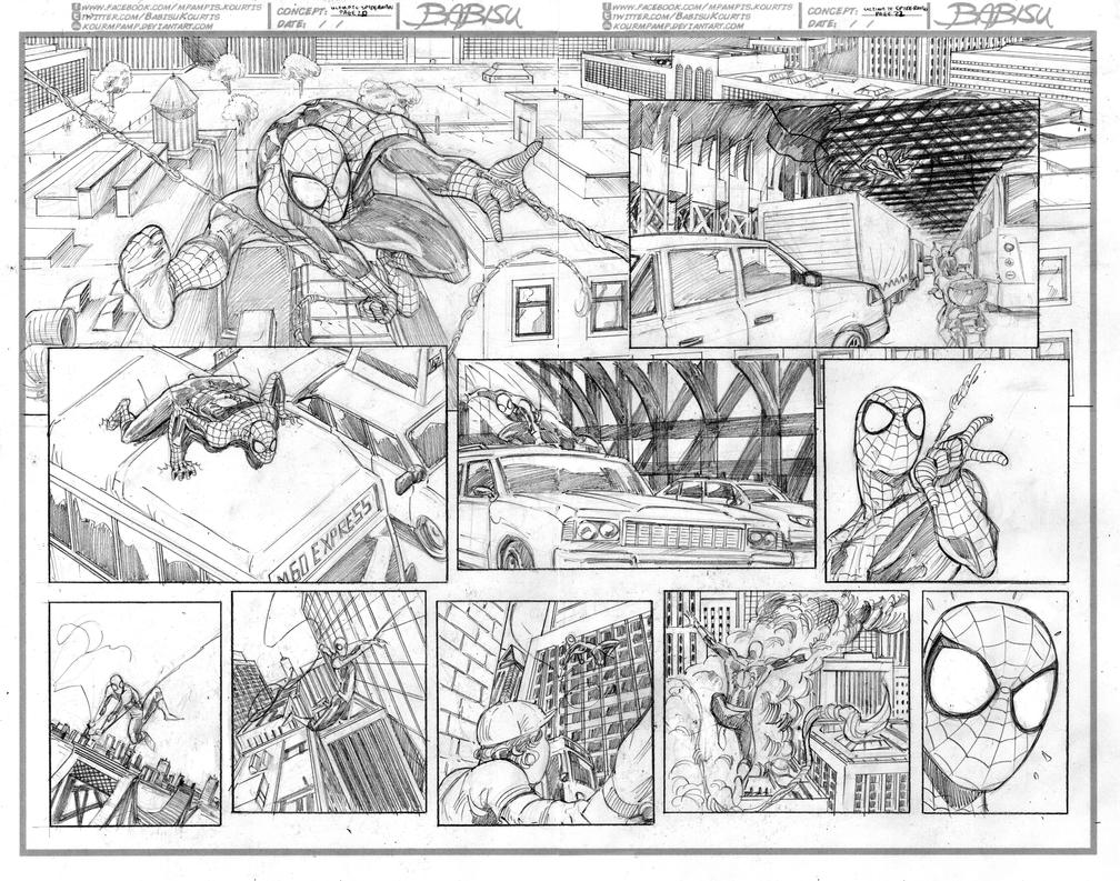 Ultimate Spiderman #28 sample pages 20-21 by kourmpamp