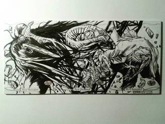 Spidey vs Venom  the Lizard by kourmpamp