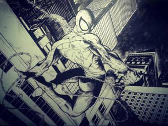 Spiderman - Night watch by kourmpamp