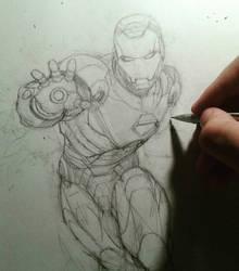 Ironman sketching progress by kourmpamp