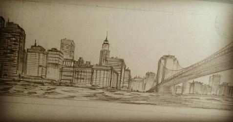 NYC Skyline by kourmpamp