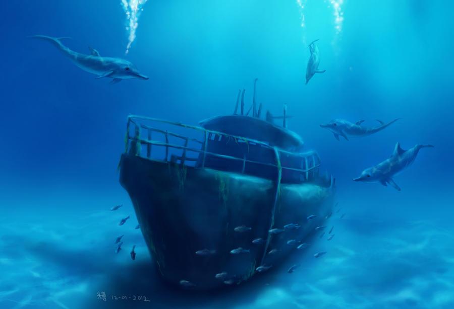 Lonely Underwater World by chanpalok on DeviantArt