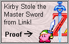 Kirby is a THEIF Stamp by LeafeonFan