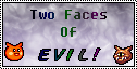 Two faces of EVIL Stamp by LeafeonFan