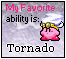 Tornado Kirby Stamp by LeafeonFan