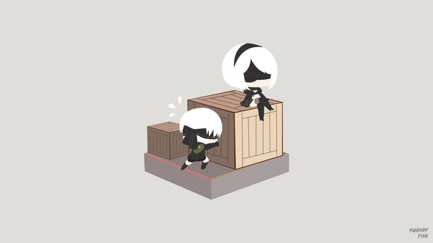 Sorting Trouble(9S and 2B) (NieR: Automata)