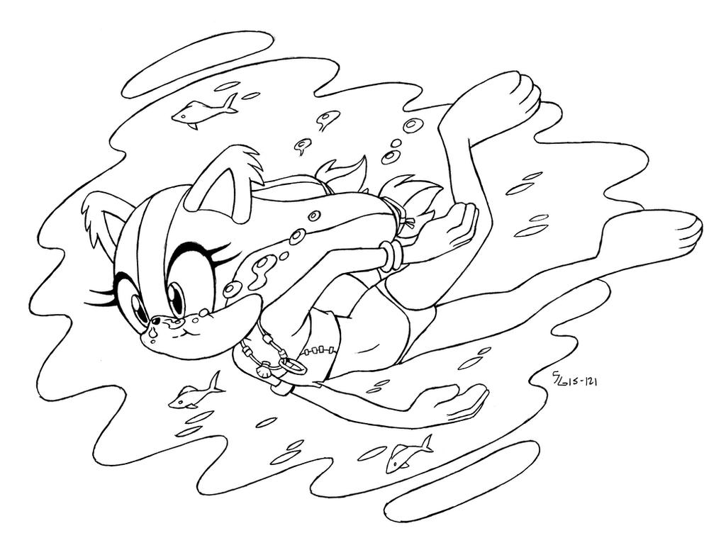 sonic amy swimming coloring pages | FAN - Sonic Boom - Sticks' Swim 2 of 7 by shoxxe on DeviantArt