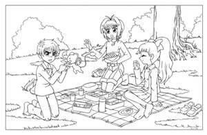 COM - Picnic with Sakura by shoxxe