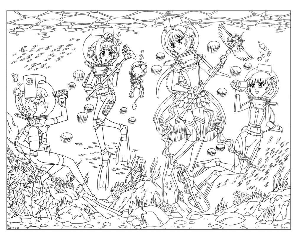 COM - Underwater Cardcaptor Queens by shoxxe
