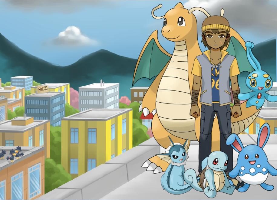 Pokemon Trainer Troy in the City by multificionado