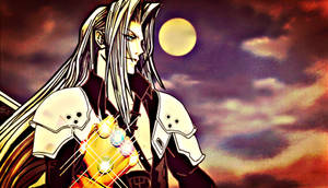 Sephiroth and the Infinity Gauntlet by multificionado
