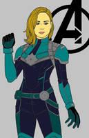 Captain Marvel by multificionado