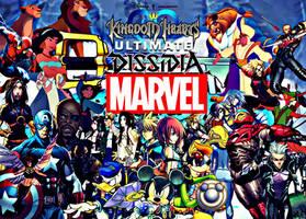 Kingdom Hearts Ultimate Dissidia Marvel Hero World by multificionado