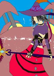 Black Mage Yuna by multificionado