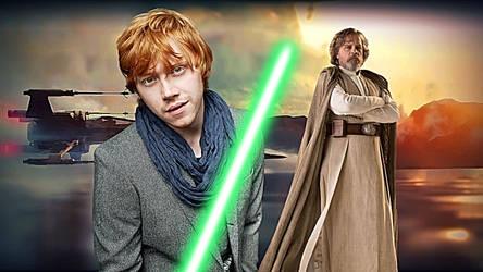 Ben Skywalker and Father Luke by multificionado