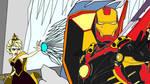 KH Ultimate Dissidia Marvel - Stark Mad Ice Queen by multificionado