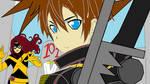 KH Ultimate Dissidia Marvel - Arcade's Shibuya by multificionado