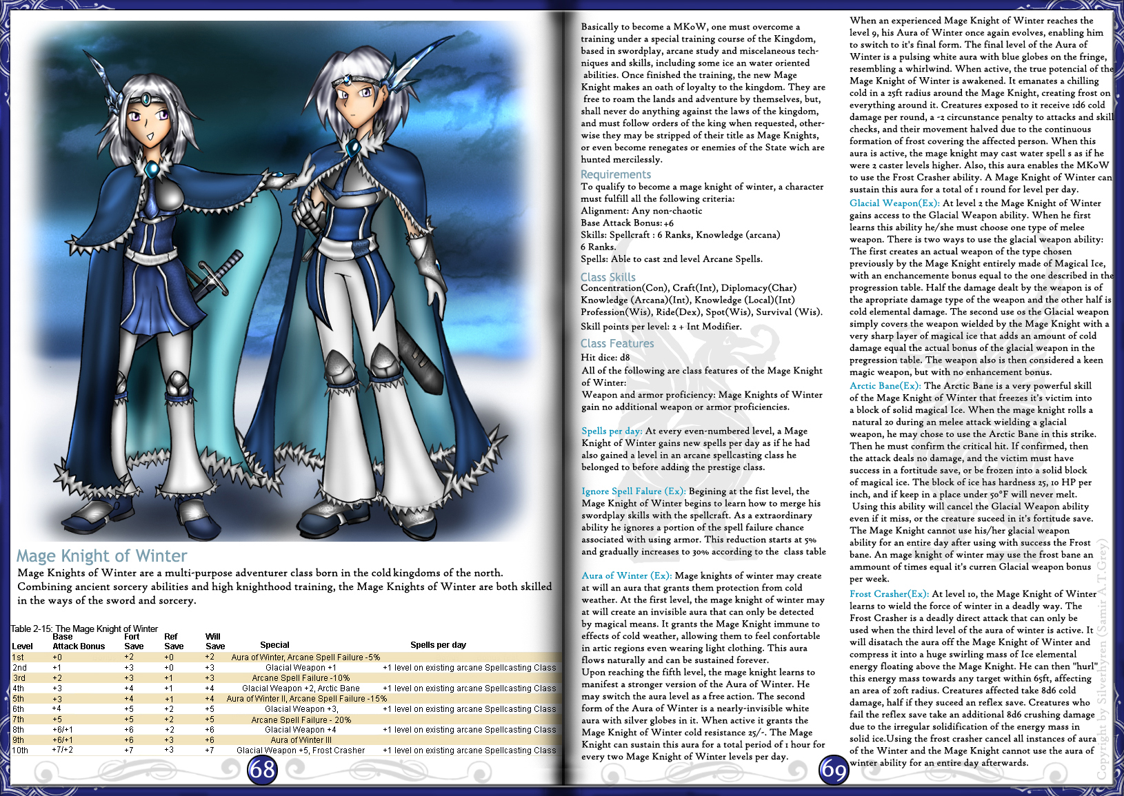 Mage Knight of Winter by Silverhyren