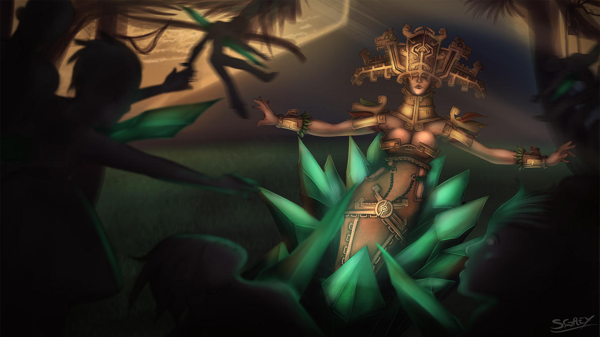 Sun Goddess Lissandra by Silverhyren on DeviantArt
