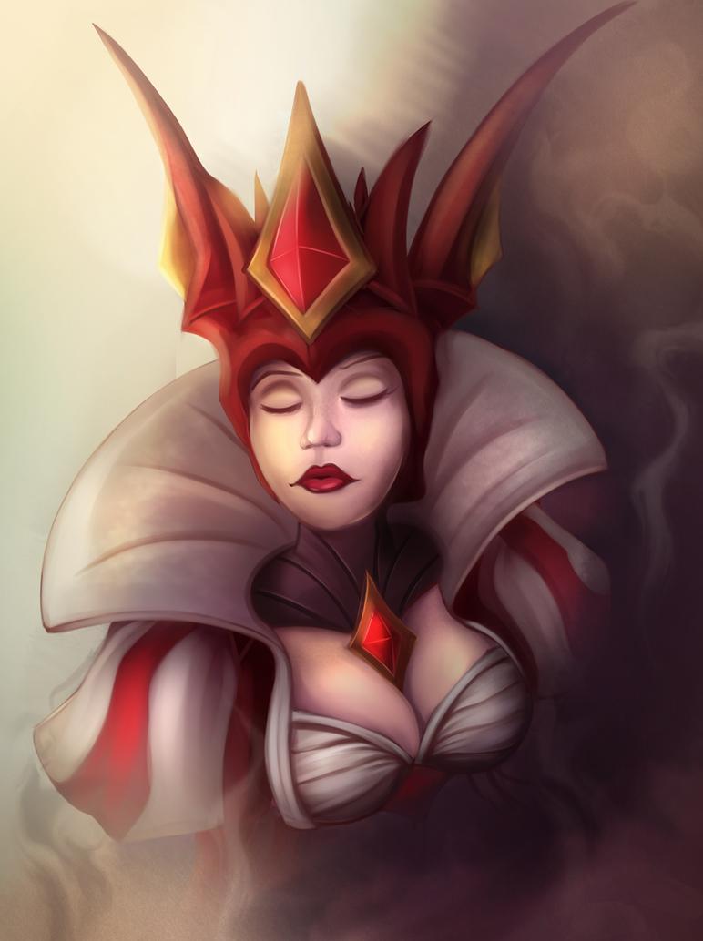 Queen of Diamonds Syndra by Silverhyren