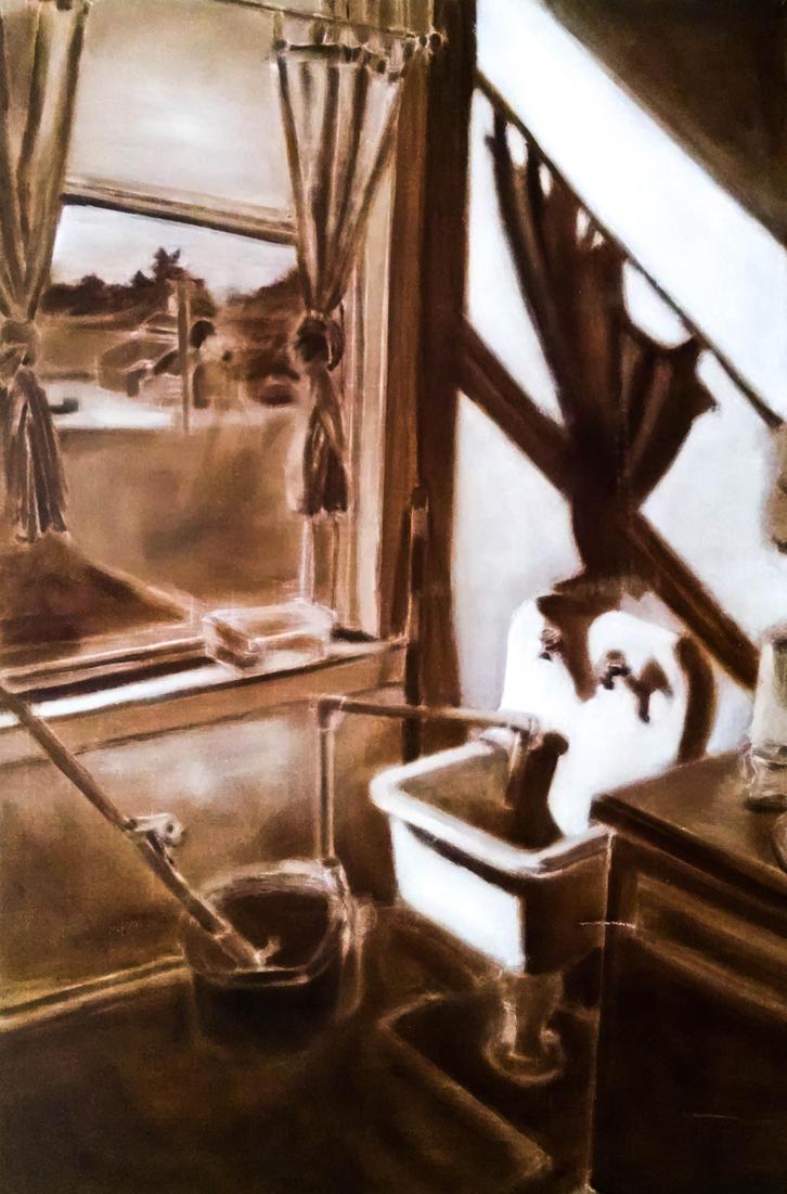 Manifest Bathroom With Hole by ShadedCracken