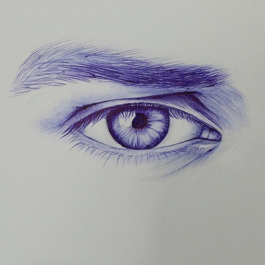 drawing by blue ballpoint pen by jifman30 on deviantart
