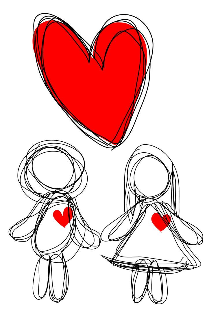 Картинки о любви своими руками 80