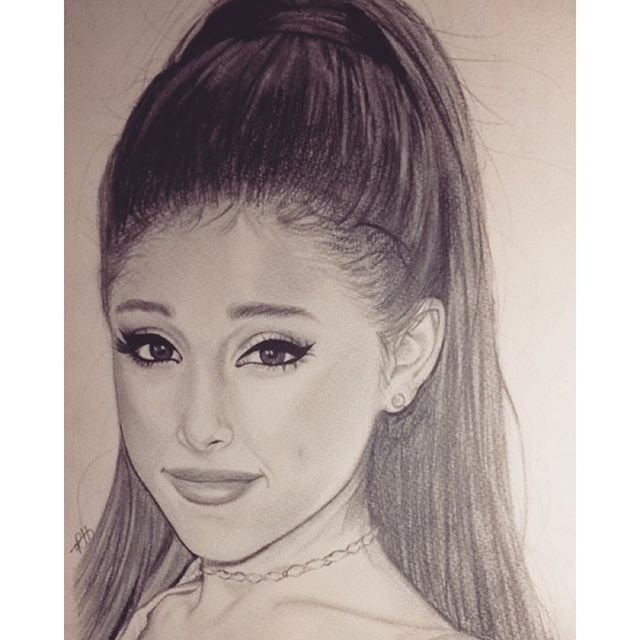 Ariana grande drawing by robynsportraits