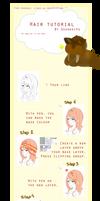 Easy and cute hair tutorial on Paint tool sai