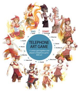 Telephone Art Game
