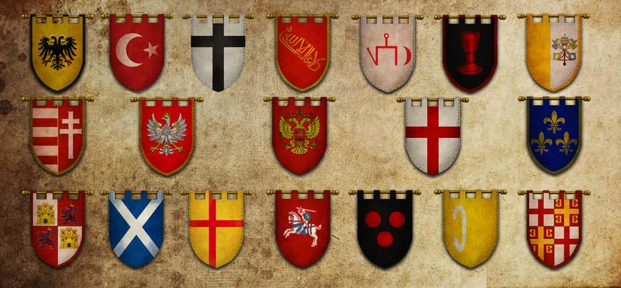 Medieval Flags Boys Room Pinterest