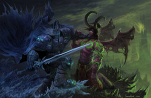 Arthas vs Illidan /heroes of the storm/ by samsalbak9