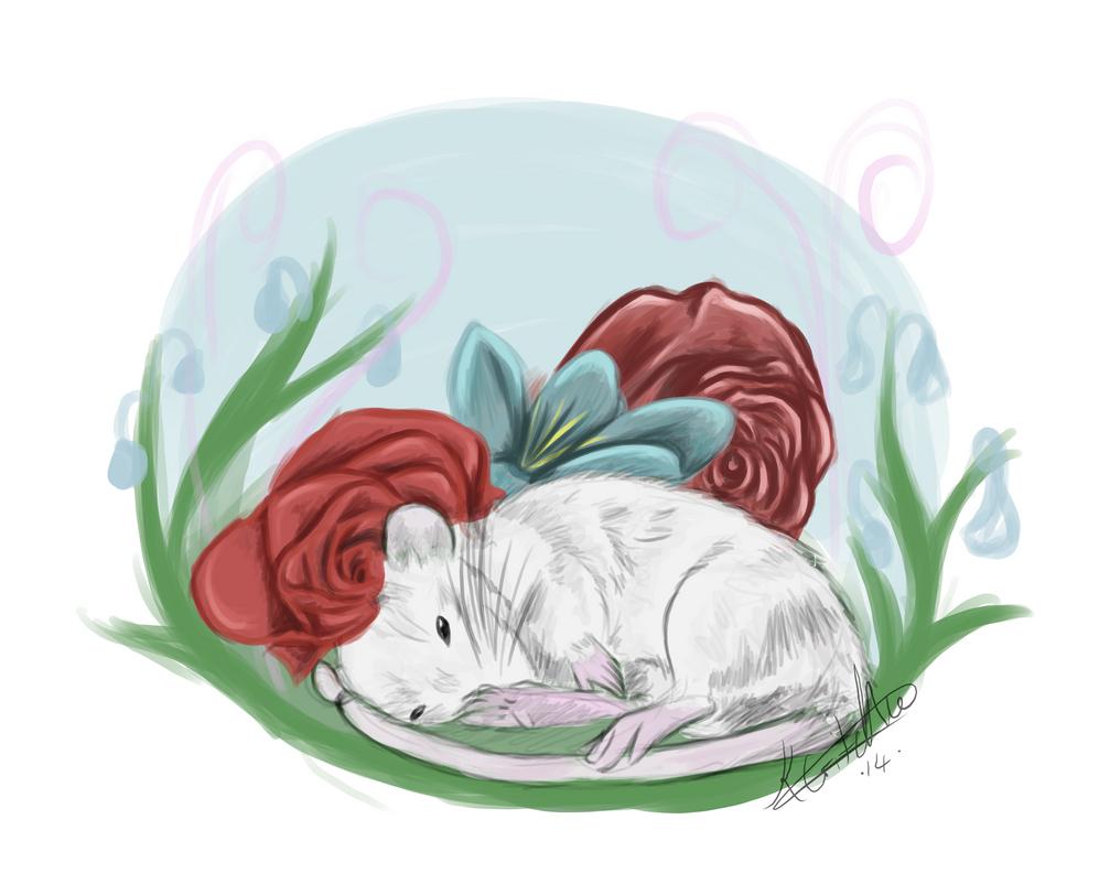 Rat in a Garden by Zeety on DeviantArt