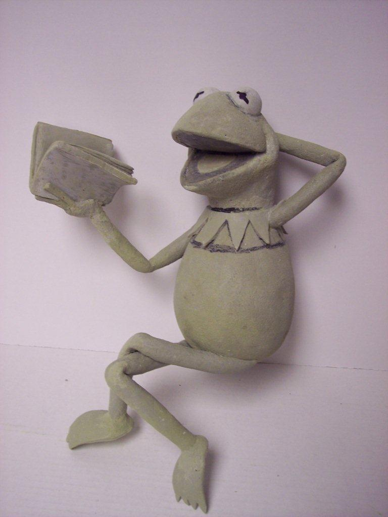 Kermit the Frog WIP sculpt by FantasyCharacterz