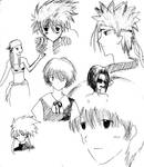 anime collage - lineart